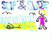 slip and slide drawing